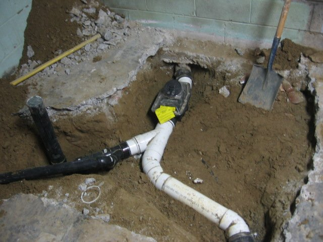 Backflow valve installation for Sewer backup in house